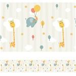 Faixa Decorativa Adesiva Infantil Animais Bichinhos 3mx15cm
