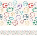 Faixa Decorativa Adesiva Infantil Bolas Coloridas 5mx10cm