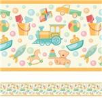 Faixa Decorativa Adesiva Infantil Brinquedos 3mx15cm