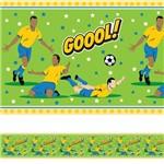 Faixa de Parede Infantil Adesiva Futebol Gol 5mx10cm