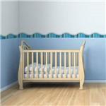 Faixa Decorativa Adesiva Infantil Lapis de Cor Azul 10mx10cm