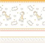 Faixa Decorativa Infantil Girafa e Hipopótamo 6mx15cm