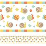 Faixa Decorativa para Quarto de Bebê Caracol 5mx10cm