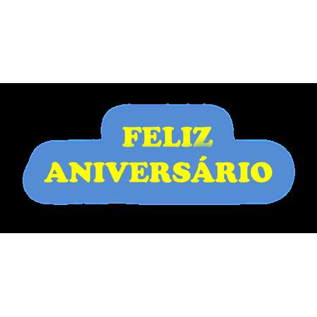 Faixa Feliz Aniversário EVA Amarelo C/ Azul