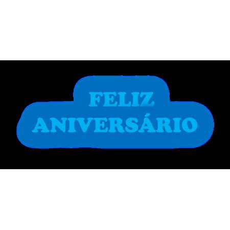 Faixa Feliz Aniversário EVA Azul Escuro C/ Azul Claro