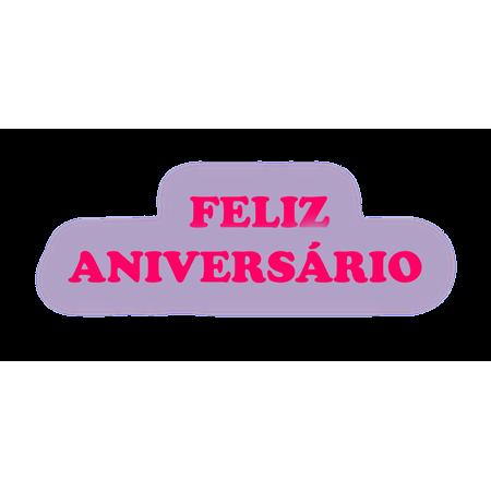 Faixa Feliz Aniversário EVA Lilás C/ Pink