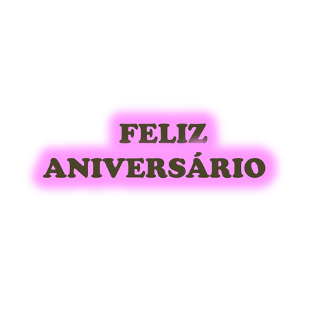 Faixa Feliz Aniversário EVA Rosa C/ Marrom