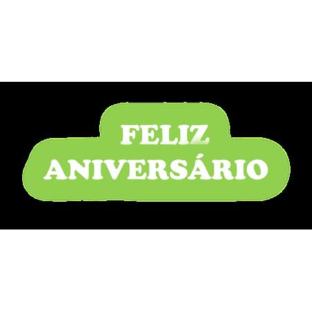 Faixa Feliz Aniversário EVA Verde Claro C/ Branco