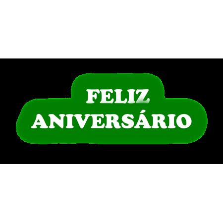 Faixa Feliz Aniversário EVA Verde Escuro C/ Branco