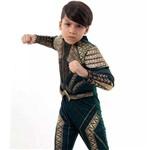 Fantasia Aquaman Infantil Luxo com Músculos Liga da Justiça Sulamericana