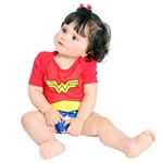 Fantasia Body Mulher Maravilha Baby G 9 Meses