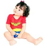 Fantasia Body Verão Mulher Maravilha G 9m+ Bebê Sulamericana