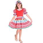 Fantasia Caipirinha Chic Infantil Completa com Tiara Sulamericana