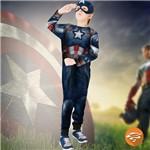Fantasia Capitão América 2 Longa Infantil Vingadores Rubies