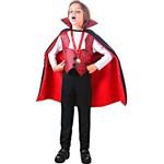 Fantasia Conde Drácula Halloween Infantil Novo - P 2 - 4