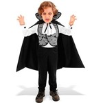 Fantasia Conde Drácula Infantil Vampiro com Capa Sulamericana