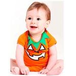 Fantasia de Abóbora Halloween Bebê Body - G 7 - 9 Meses