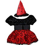 Fantasia de Bruxa Lilith com Cinto e Chapéu Halloween Infantil