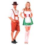 Fantasia de Casal Alemão e Alemã Adulto
