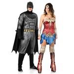 Fantasia de Casal Batman e Mulher Maravilha Adulto