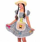 Fantasia de Festa Junina Adulto Feminino Vestido Caipira com Avental