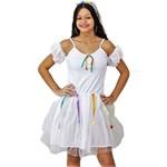 Fantasia de Festa Junina Infantil Vestido de Noiva com Véu