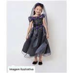 Fantasia de Halloween Infantil Feminina Princesa Muerte com Véu