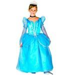 Fantasia de Princesa Cristal Infantil Luxo