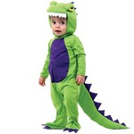 Fantasia Dinossauro Rex Bebê com Capuz e Rabo 1 Ano - P - 1