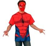 Fantasia Homem Aranha Adulto Camisa Casual Original com Máscara