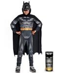 Fantasia Infantil - Batman Premium Dc - Macacão Longo - Tam P - Sulamericana 22887