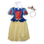 Fantasia Infantil - Branca de Neve Sparkle com Tiara - Tamanho M - Rubies 884115