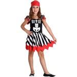 Fantasia Infantil Pirata Esqueleto Feminino - Sulamericana Fantasias