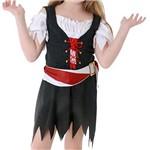 Fantasia Infantil Pirata Vestido Tam. P - Sulamericana