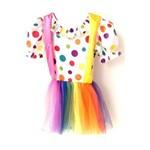 Fantasia Infantil Vestido Palhaço Menina
