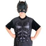 Fantasia Kit Batman Cavaleiro das Trevas Infantil com Mascara