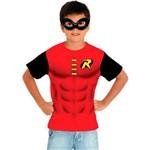 Fantasia Kit Robin Infantil Camiseta e Máscara Sulamericana