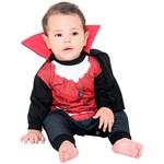 Fantasia Macacão Conde Drácula Bebê com Capa Sulamericana - G 7 - 9 Meses