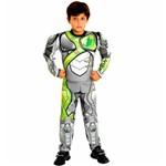 Fantasia Max Steel Infantil Luxo Completa com Músculos Sulamericana - P 2 - 4