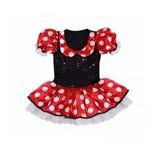 Fantasia Minnie Vermelho Luxo Infantil Tam 4