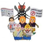 Fantoches de Combate a Dengue com 6 Personagens 1767 - Carlu