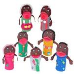 Fantoches Família Negra 7 Personagens - 1214 - Carlu