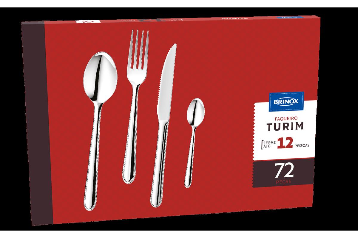 Faqueiro 72 Peças - Turim - Brinox