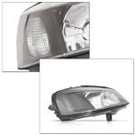 Farol Astra Hatch Sedan 98 99 2000 2001 2002 Foco Duplo Máscara Negra Lente Lisa