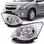 Farol Chevrolet Cobalt 2012 2013 2014 2015 Cromado - Direito