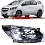 Farol Chevrolet Spin 2012 2013 2014 2015 2016 2017 Máscara Negra Foco Simples