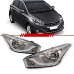 Farol Hyundai HB20 HB20S 2012 2013 2014 2015 Máscara Cromada- LADO DIREITO PASSAGEIRO