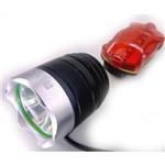 Farol Lanterna Bike Bicicleta Led T6 Bateria 6 Cel