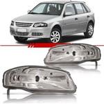 Farol Volkswagen Gol Parati Saveiro G4 2006 a 2014 G4 Máscara Cromada Lado Esquerdo Motorista