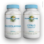 Faseolamina 500mg 60 Cápsulas + Citrus Aurantium 500mg 60 Cápsulas